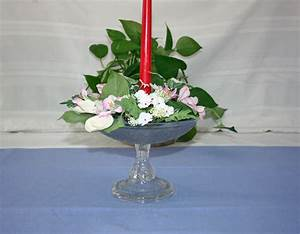 rare antique eapg clear glass flower centerpiece candle With kitchen cabinets lowes with vintage birthday candle holders