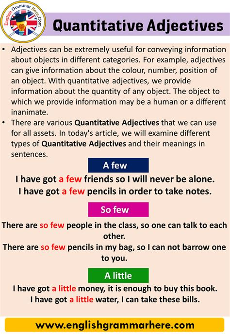 quantitative adjectives  english  images english