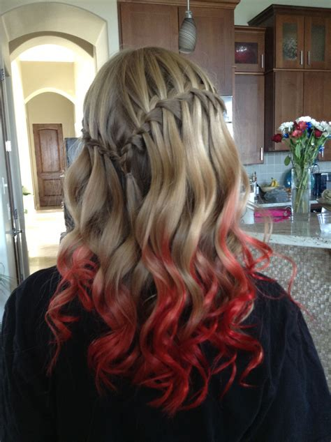 Red Ombr Hair Kool Aid Dip Dye This Is Actually Really