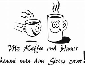 Wandtattoo Küche Bilder : aufkleber wandtattoo k che mit kaffee und humor mit 2 tassen in 3 gr en ebay ~ Markanthonyermac.com Haus und Dekorationen