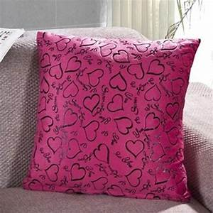 Cute heart cushion case square soft throw pillow cover for Best soft bed pillows