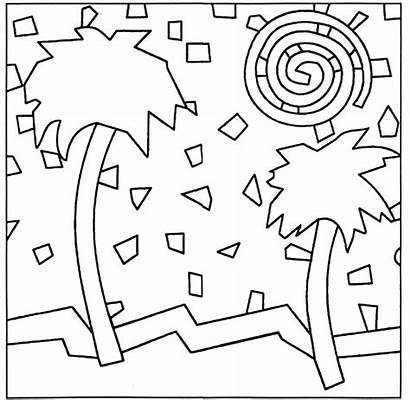 Mosaic Patterns Coloring Templates Pattern Drawing Pages
