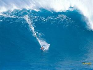 Surfing a Giant Wave Desktop Wallpaper | High Quality ...