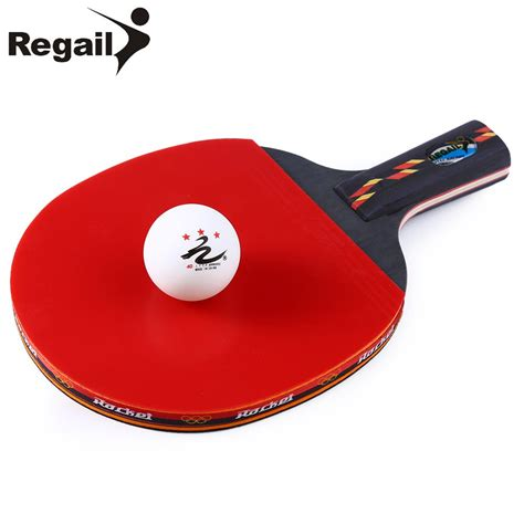 best chinese table tennis rubber regail long handle shake hand grip table tennis racket