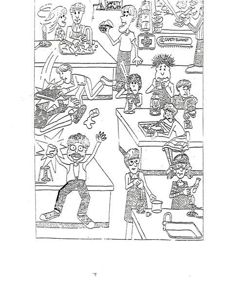 Science Lab Safety Cartoon Worksheet Science Best Free Printable Worksheets