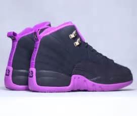 Purple and Black Jordan's Retro 12