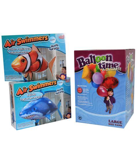 Pesce Volante Radiocomandato Combo Pesci Volanti Air Swimmers Pagliaccio Squalo