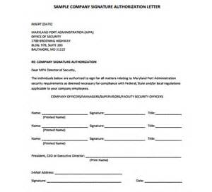 sample authorization letter to sign on behalf