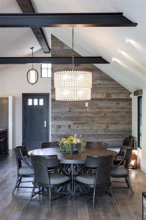 black beams chandelier showcase vaulted ceilings hgtv