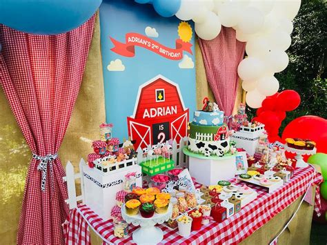 karas party ideas barnyard farm birthday party karas