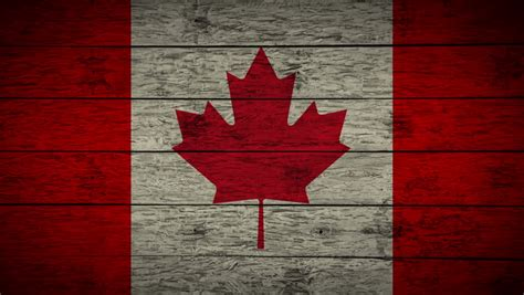flag  canada background seamless loop animation stock