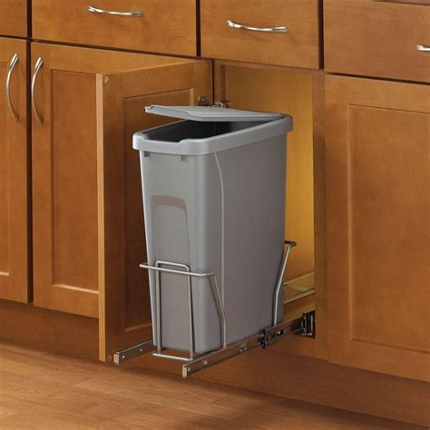 in cabinet trash can roll out real solutions for real life 17 in h x 8 in w x 20 in d