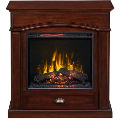 lowes electric fireplace shop style selections inches w btu electric fireplace at