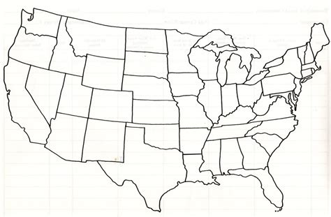 Usa Outline For Tracking Family Movements