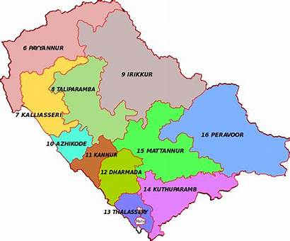 Kannur Map District Kerala Constituency Election Wise