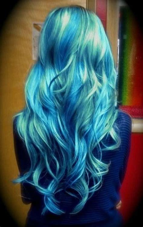 Coloring Hair Blue by Best Green Blue Ombre Hair Dye Seafoam Mermaid Ombre