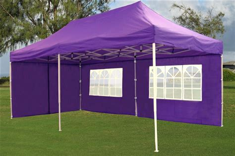 enclosed pop  canopy party folding tent gazebo purple  model ebay