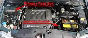 Fuse Box Diagram Honda Odyssey  Rl1  2000