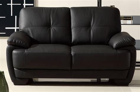 canapé 2 places cuir buffle canapé 2 places en cuir italien buffle leandro noir