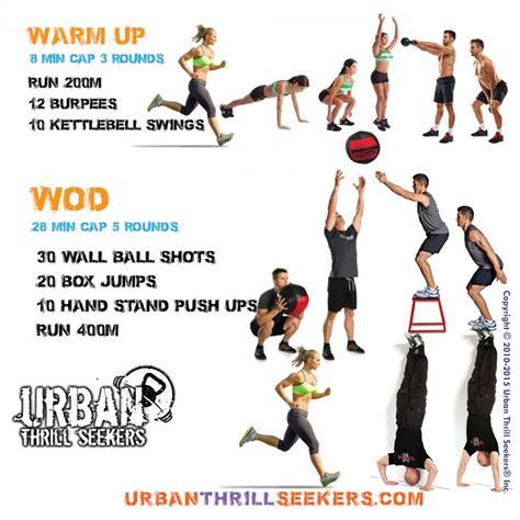 ball wall workout wod warm crossfit kettlebell workouts box swings run shots jump ups jumps 200m burpees exercises push emom