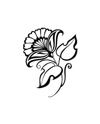 Tattoo Flower Project Printable Coloring Tattoos Topcoloringpages