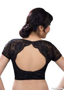Buy Decorative Flowers Online by Buy Black Net Embroidered Stitched Readymade Blouse Online