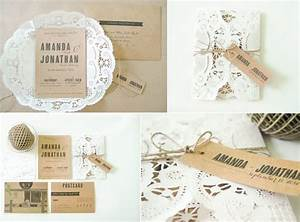 rusticweddinginvitations rustic romance wedding With wedding invitations using doilies