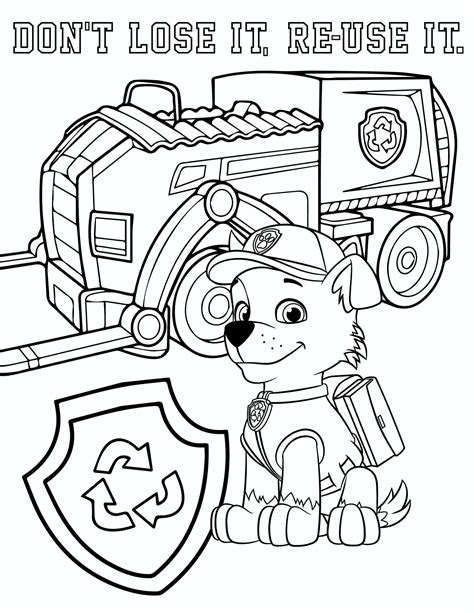 Paw Patrol Coloring Page youngandtae com in 2020 Paw