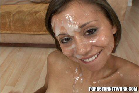 Amazing Smile Covered With Semen