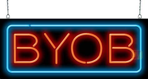 byob neon sign fl   jantec neon