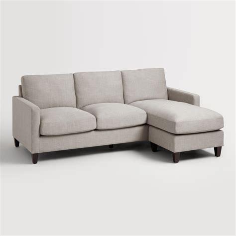 Dove Gray Textured Woven Abbott Sofa World Market