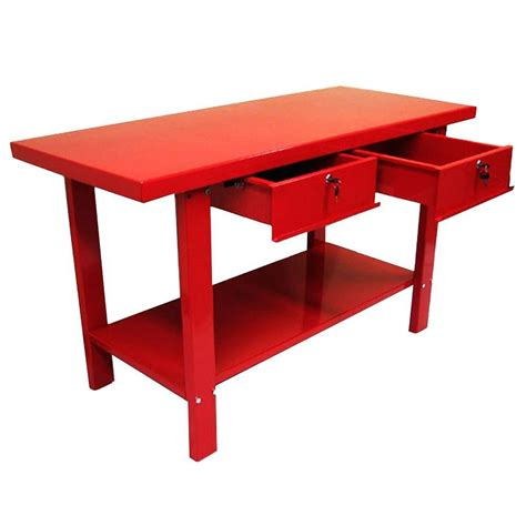 home depot work bench edsal 28 in h x 36 in w x 4 in d flared fixed height