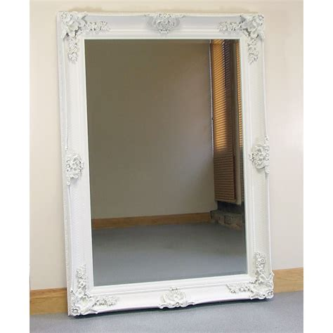 shabby chic large wall mirrors abbey large shabby chic antique style wall over mantle mirror cream mirrors
