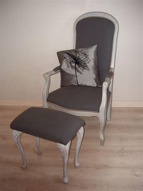 restauration fauteuil voltaire et repose pied le bric 224 brac de pamou