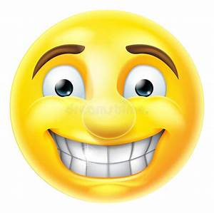 Nervous Grin Emoji Emoticon Stock Vector - Illustration of ...