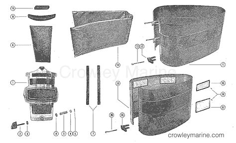 Cowling Front Cover Mercury Outboard
