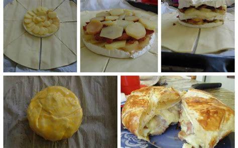 recette de cuisine camembert au four recette feuillet 233 au camembert lardons et pommes de terre gt cuisine 201 tudiant
