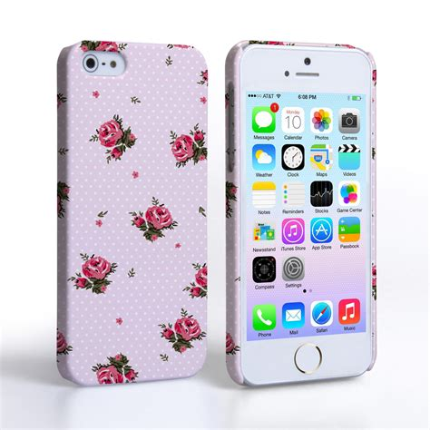 Caseflex Iphone 5 / 5s Vintage Roses Polka Dot Wallpaper
