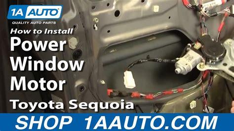 install replace power window motor toyota sequoia