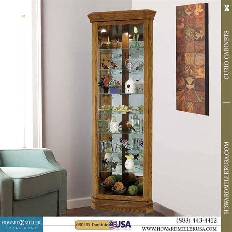 glass curio cabinet howard miller corner oak curio cabinet glass mirror back