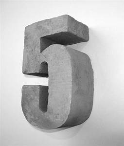concrete number 5 3d letters With press in letters for concrete