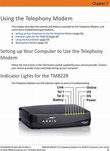 Arris Modem Lights Tm822