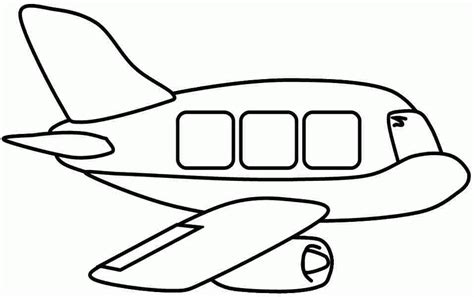 Air Transportation Vehicle Coloring Page