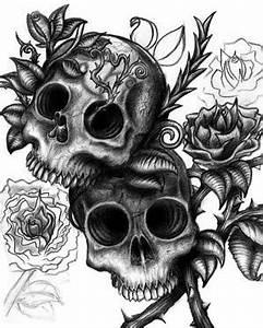 Dessin Tete De Mort Avec Rose : t te de mort images photos et illustrations pour facebook page 7 bonnesimages ~ Melissatoandfro.com Idées de Décoration