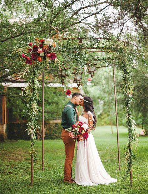 Bohemian Jewel Tone Wedding Inspiration Jewel Tone