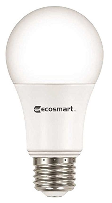 ecosmart 8 pack a19 60 watt equivalent daylight 5000k