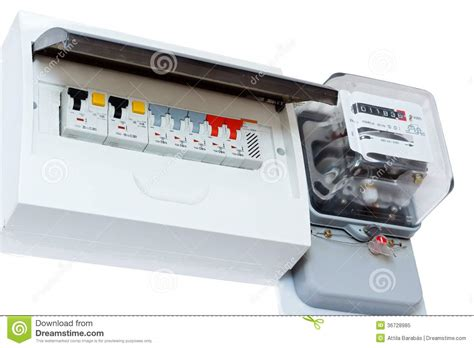 Electricity Fuse Box by Elecetricity Consumption Stock Image Image Of