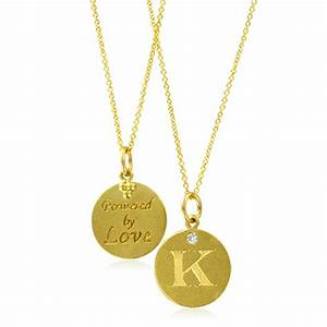 Initial necklace letter k diamond pendant with 18k yellow for Gold chain with letter k
