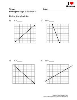 worksheets  slope