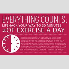 Infographic Lifehack Your Way To 30 Minutes Of Exercise A Day
